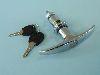 Knebelgriff für Motorhaube, bis 1964, abschließbar mit zwei Schlüsseln
