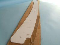 Verdeckspitzenblende, Modell 68-71, weiß
